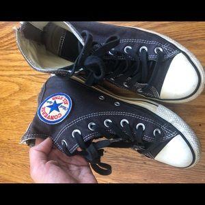 Converse Black Zipper Zip High Top 7.5